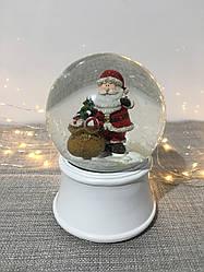Снежный шар с музыкой Дед мороз 15 см