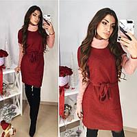 Женское мягкое мохеровое платье в расцветках. ОБ-2-1218