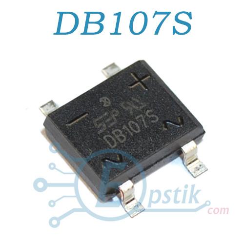 DB107S, диодный мост, 1А 1000В, SOP4