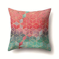 Подушки декоративные Зелено - красные кубы 45 х 45 см Berni