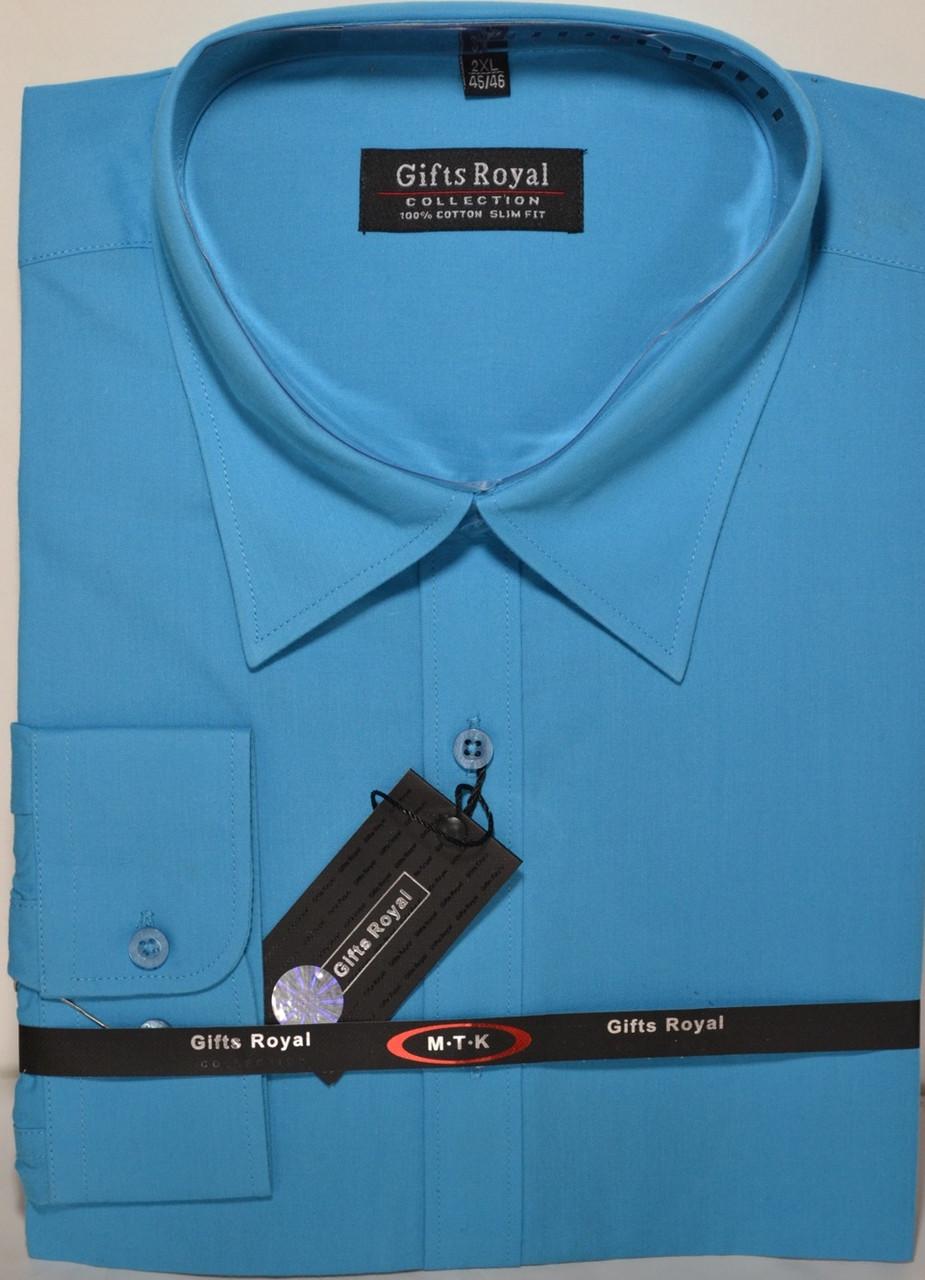 Мужская рубашка приталенная GIFT ROYAL