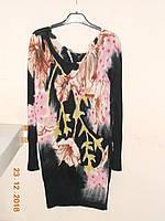 Ошатна подовжена туніка з рожевими ліліями Etincelle, фото 1