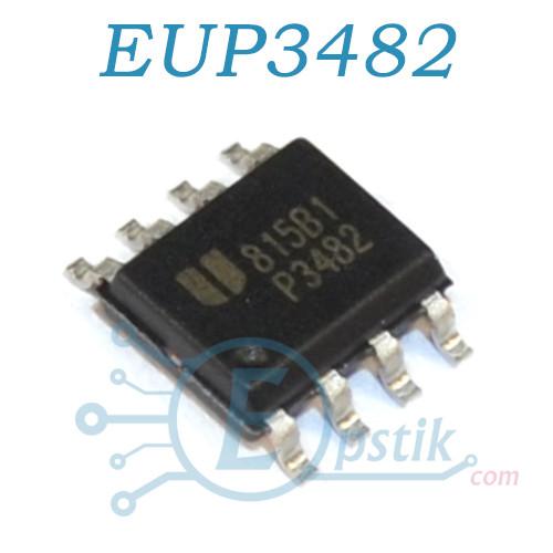 EUP3482, DC-DC понижающий преобразователь 2А, 30В, 340kHz, SOP8