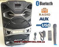 Колонка с аккумулятором UF-8008AK-DT + радиомикрофон