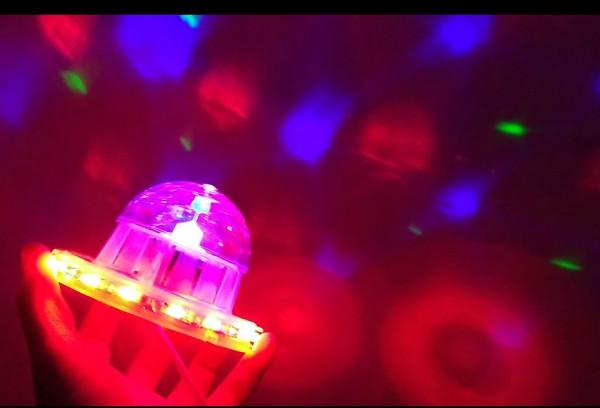Светомузыкальный прибор для вечеринок, кафе, ресторана LED 3+48 WALL