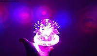 Светомузыкальный прибор Цветок для вечеринок, кафе, ресторана LED 3+48 WALL, фото 1