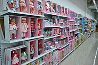 Стеллажи WIKO торговые для детских магазинов. Торговое оборудование ВИКО