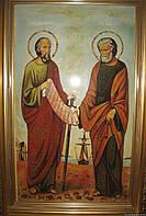 """Икона из янтаря """" Св Петро и Павло """""""