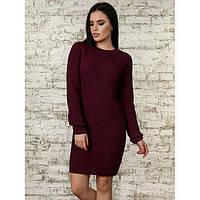 Женское вязаное платье в расцветках (2712/1)