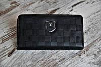 Мужской кошелек - портмоне, черного цвета. ТОП КАЧЕСТВО!!! Реплика, фото 1