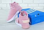 Женские кроссовки Adidas Tubular (розовые) , фото 3