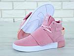 Женские кроссовки Adidas Tubular (розовые) , фото 7