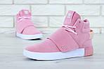 Женские кроссовки Adidas Tubular (розовые) , фото 4