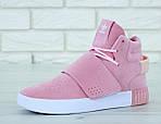 Женские кроссовки Adidas Tubular (розовые) , фото 6