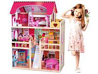 Кукольный домик барби с мебелью! Подарок 2 куклы.Игровой кукольный домик для барби Malinowa rezydencja