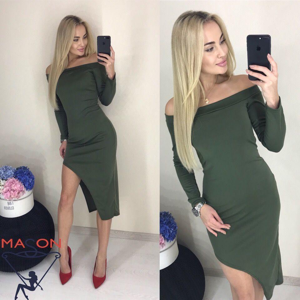 Платье с разрезом