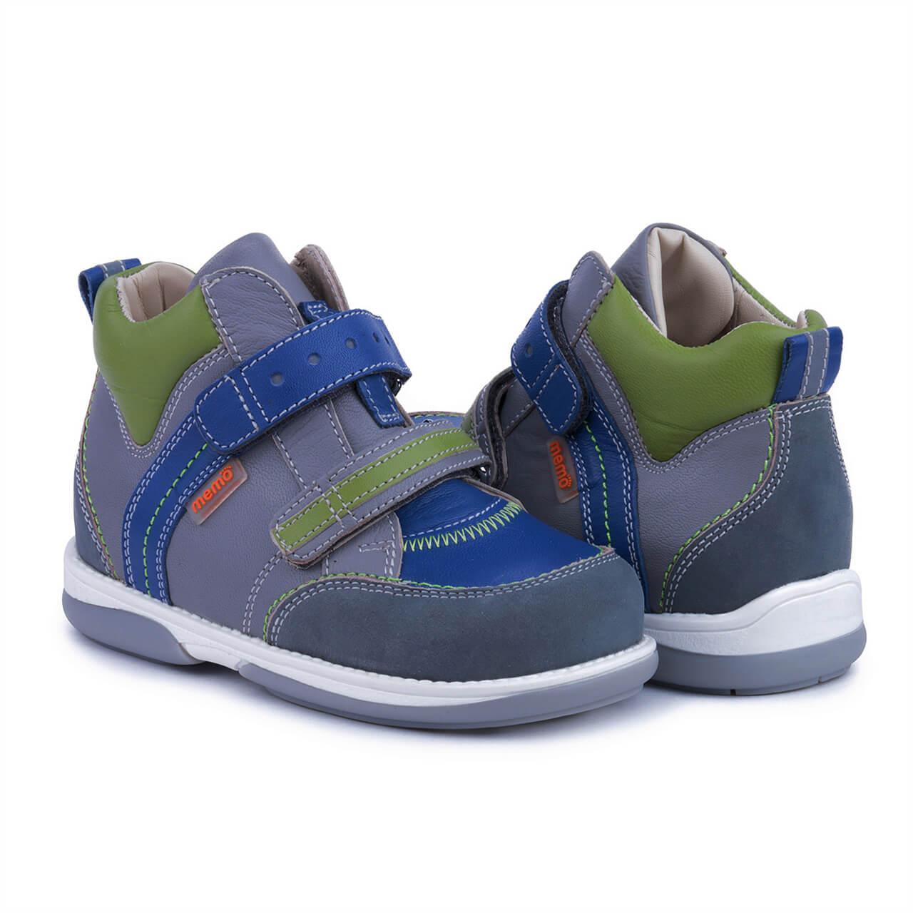 Memo Polo Junior Серый Синий Зеленый - Ортопедические кроссовки для детей 25