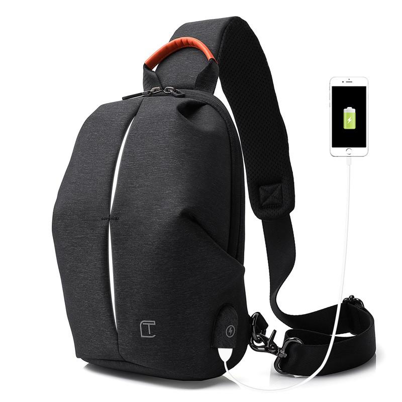 Крутой однолямочный рюкзак через плечо Tangcool TC905, влагозащищённый, 3л