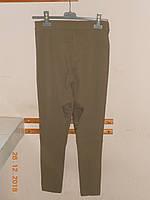 Узкие серые  брюки с высокой посадкой, с отделкой натуральной замшей Absolu, фото 1