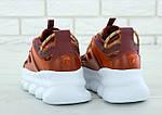Женские кроссовки Versace Chain Reaction Sneakers (коричневые) , фото 7