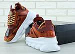 Женские кроссовки Versace Chain Reaction Sneakers (коричневые) , фото 8
