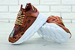 Женские кроссовки Versace Chain Reaction Sneakers (коричневые) , фото 9