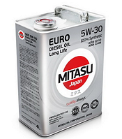 Масло моторное Mitasu Euro Diesel Oil Long Life 5W-30 100% Synthetic ✔ 4л.