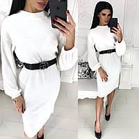 2ffa0dc4d6d Повседневное женское платье в ангору рубчик мод. 1212