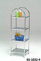 Стеллаж для ванной комнаты, стойка для полотенец в ванную, стойка для хранения на балкон на 4 полки