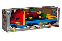 Игрушечный эвакуатор Super Truck с трактором