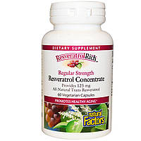 Ресвератрол (Resveratrol), Natural Factors, 250 мг,  60  капсул