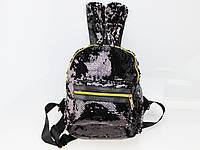 Рюкзак R-5-6 в пайетках двусторонний черный