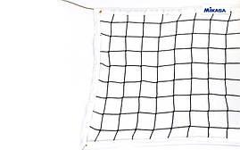 Сетка для волейбола MIKASA (р 9,5x1м, ячейка 12x12см) C-6390, фото 3