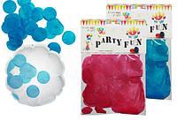 Конфетти для шариков гигантов 8722 круги бумажн цветн 25 гр