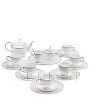Чайный сервиз на 6 персон Венецианская Классика (Venice Classic Pavone) из костяного фарфора 22пр-та