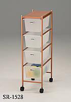 Система хранения с выдвижными ящиками на колесиках