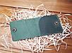 Кошелек из натуральной кожи ручной работы Mini цвет зеленый, фото 3