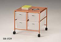 Прикроватный столик в стиле лофт, кофейный лофт столик, система хранения с выдвижными ящиками на колесиках