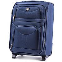 Средний тканевый чемодан Wings 6802 на 2 колесах синий