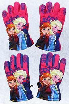 Перчатки для девочек не промокаемые, Холодное сердце