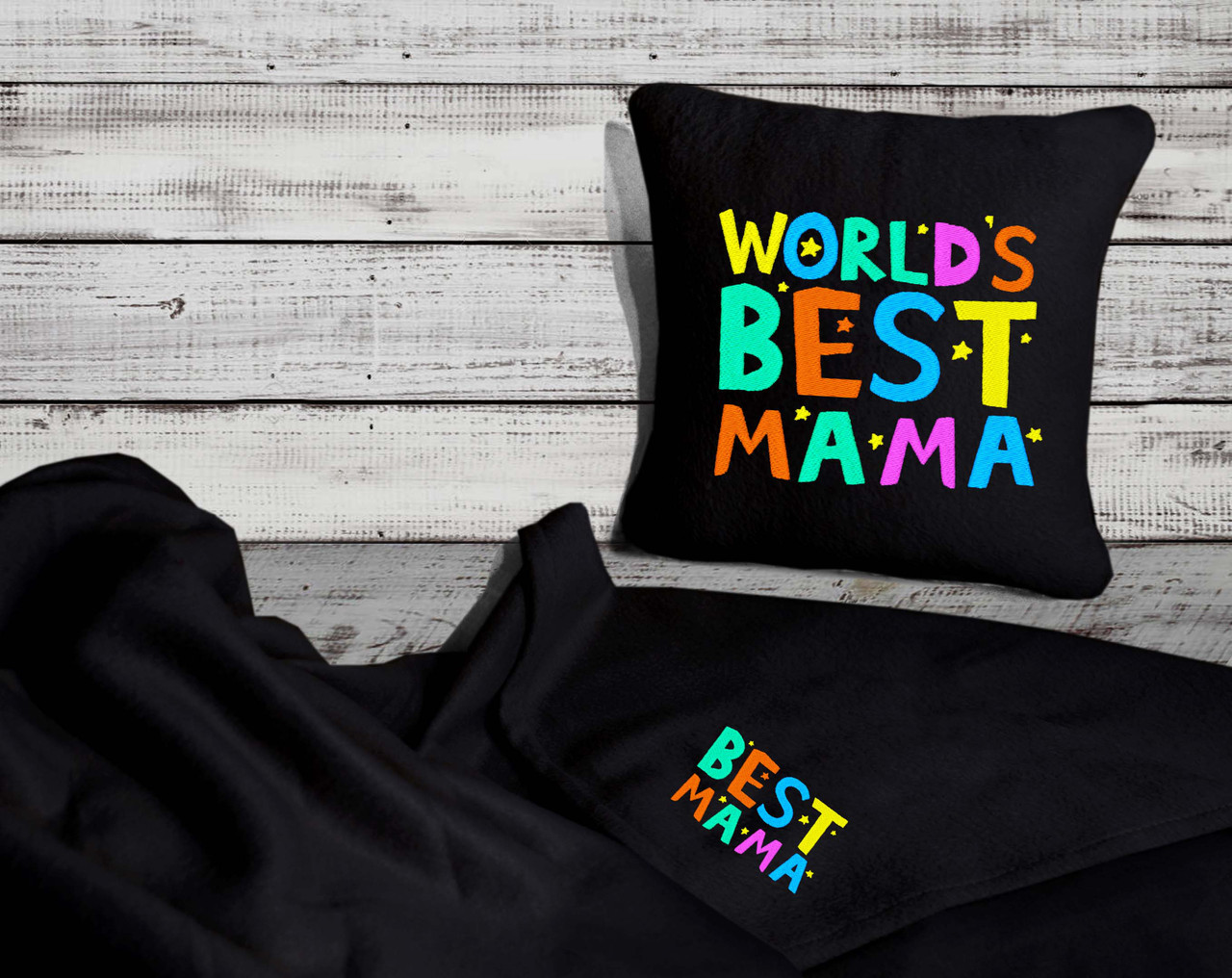 "Подушка и плед подарочный набор ""World""s Best Mama"""