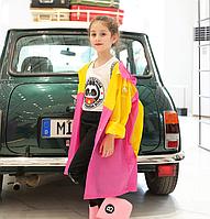 Дождевик детский с местом под рюкзак