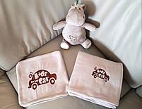"""Детский плед с вышивкой """"Kids Car"""" 04 - цвет на выбор, фото 3"""