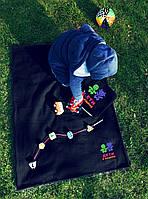 """Детский плед с вышивкой """"Дети в машине"""" 09 - цвет на выбор, фото 2"""