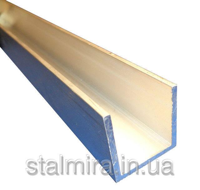 Швеллер алюминиевый 60x40, толщина стенки 2,5, марка алюминия АД31, АМг6, Д16, АМг5, АМг2