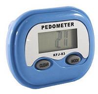 Шагомер электронный KFJ-03 с часами, фото 1