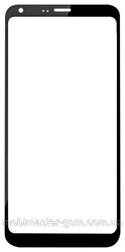 Корпусное стекло на LG M700 Q6 черное