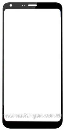 Корпусное стекло на LG M700 Q6 черное, фото 2