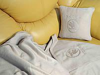 """Автомобильный плед в чехле с вышивкой логотипа """"Skoda """"NEW, фото 2"""