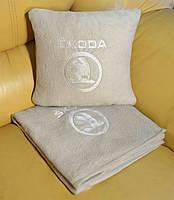 """Автомобильный плед в чехле с вышивкой логотипа """"Skoda """"NEW, фото 3"""